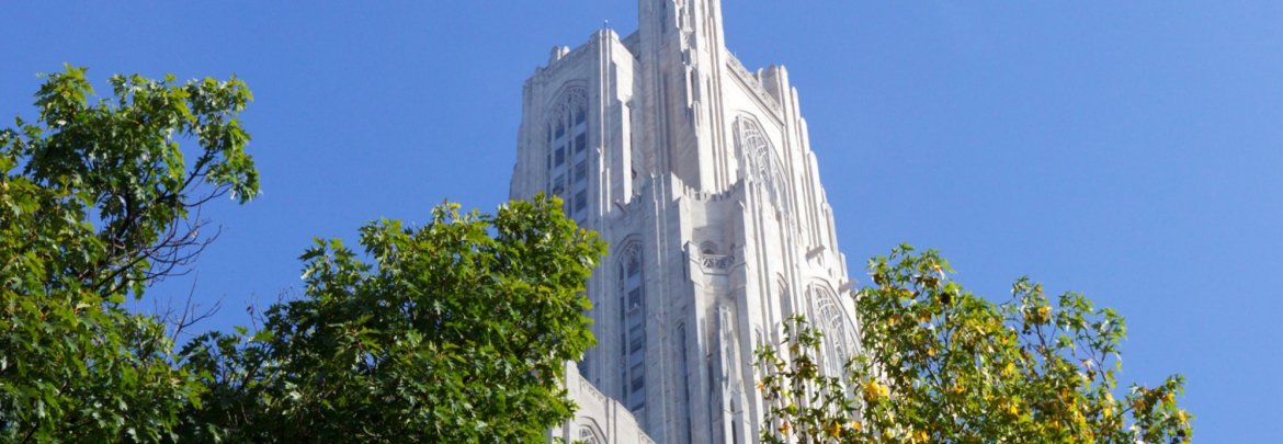 The top of the Cathedral of Learning